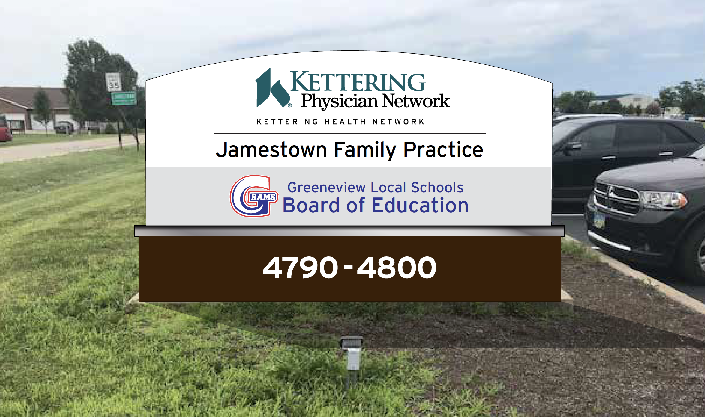 Kettering Physicians Network and Greeneview Board of Education sign